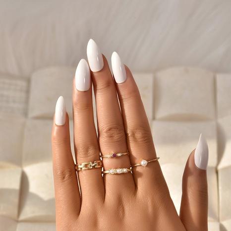 nuevo conjunto de anillos creativos y simples NHAJ336763's discount tags