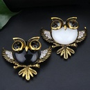 Fashion Rhinestone Owl Brooch Wholesale NHAYN336556