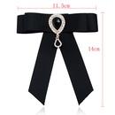 Fashion bow diamond crystal long corsage NHAYN336573