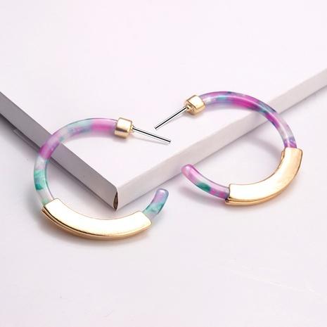 Fashion C-shaped Alloy Acrylic Earrings  NHAYN336576's discount tags