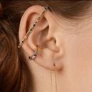 fashion color alloy diamond Cshaped earrings NHAYN336575