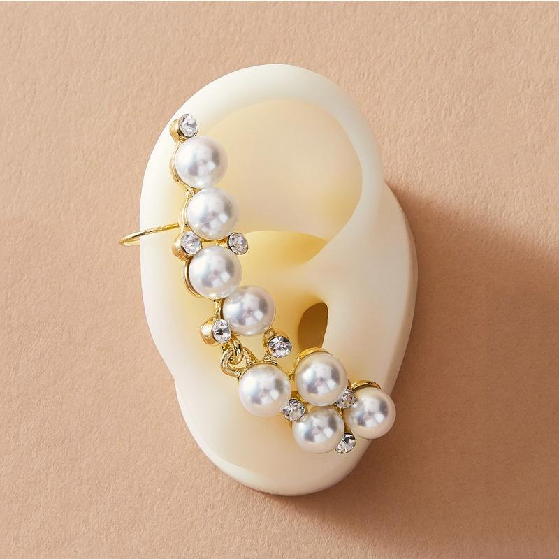 simple pearl ear bone clip NHAYN336580