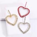 fashion alloy full diamond heartshaped earrings  NHAYN336582