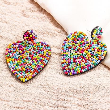 ethnic style handmade cloth bead earrings NHAYN336585's discount tags