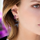 fashion moon alloy full diamond earrings  NHAYN336587