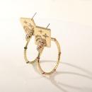 Fashion Diamond Snake Square Earrings wholesale NHAYN336591