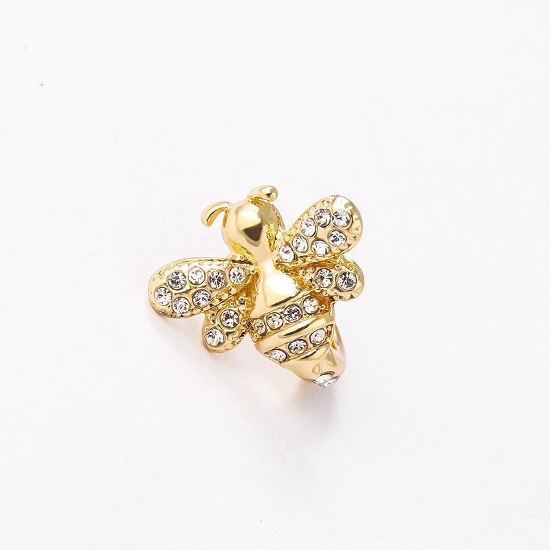 Fashion bat bee alloy rhinestone ear clips  NHAYN336593