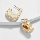 fashion gold diamond pattern earrings NHAYN336594