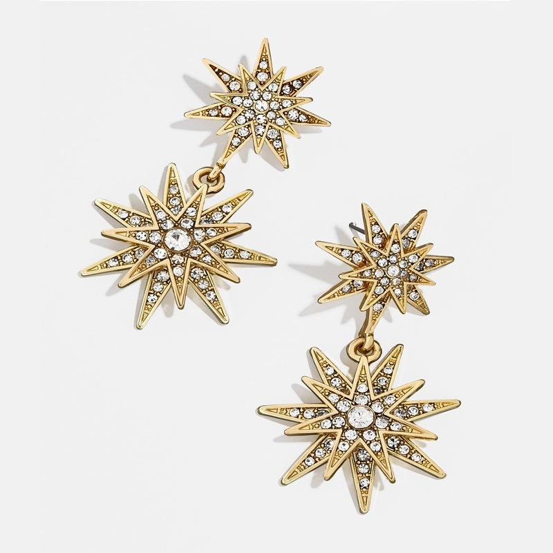fashion alloy diamond sun earrings wholesale  NHAYN336596