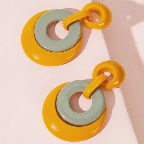 fashion water drop circle acrylic earrings  NHAYN336600's discount tags