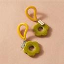 fashion water drop circle acrylic earrings  NHAYN336600
