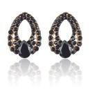 Fashion Water Drop Sapphire Multicolor Earrings Wholesale NHAYN336605