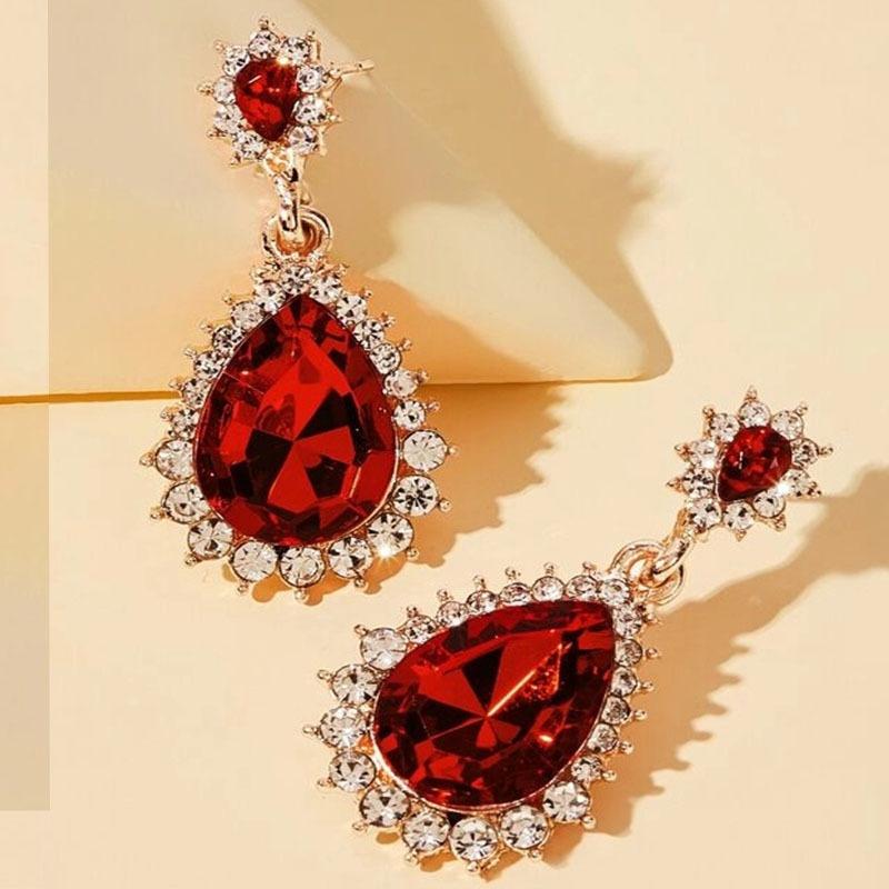 fashion drop square earrings  NHAYN336611