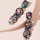bohemian alloy gemstone long earrings  NHAYN336612