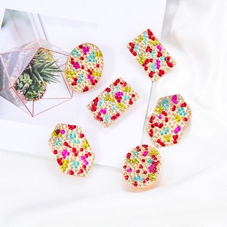 Clips de oreja de goteo de color de aleación geométrica de moda NHAYN336613's discount tags