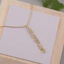 Fashion long copper inlaid zirconium letter necklace NHLA336631