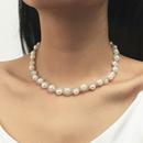Korean woven pearl alloy necklace wholesale NHLA336635