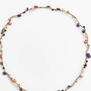 Fashion handmade rope gravel woven necklace NHLA336639