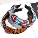 retro bronzing leaf printing hair band NHAQ336645