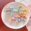 Childrens cute houndstooth ball hair ring set  NHSA336648