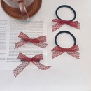 simple red bow rubber band hair tie NHWB336657