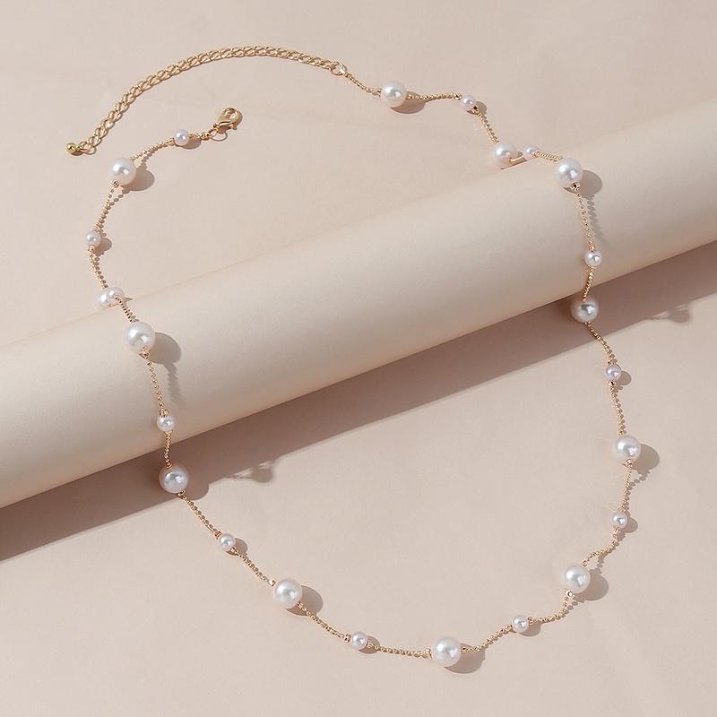 Korean geometric pearl waist chain wholesale NHPS336662
