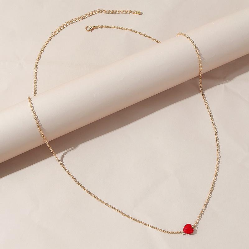 Cadena de cintura de aleacin en forma de corazn de resina coreana NHPS336668