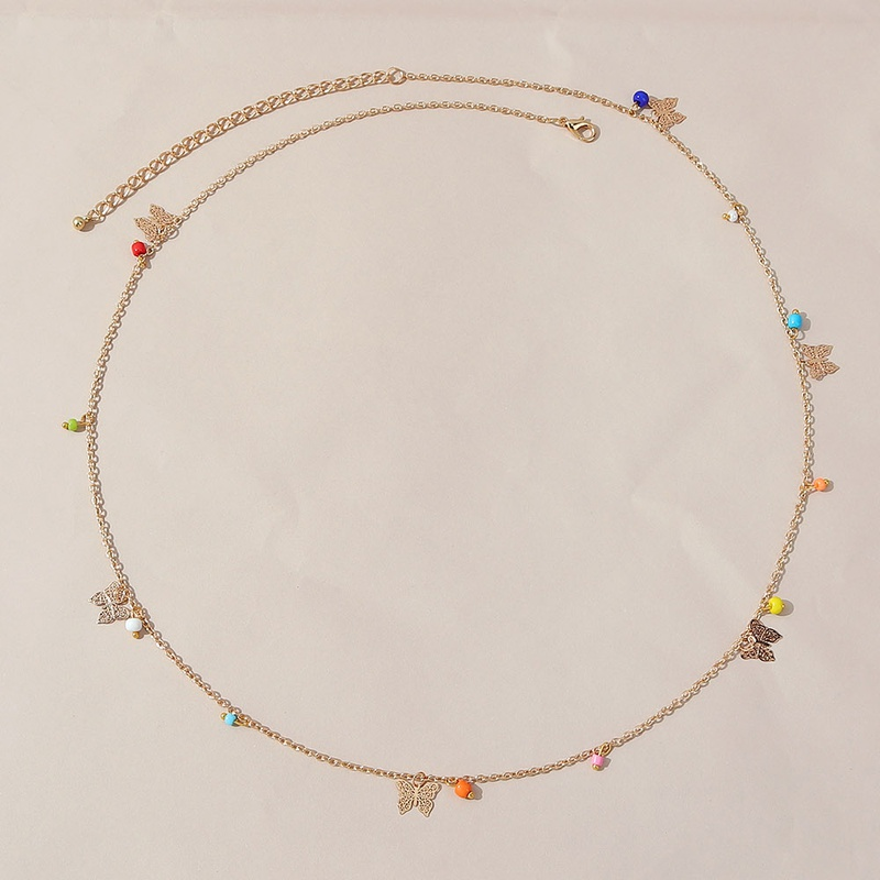 Simple small butterfly alloy waist chain wholesale NHPS336672