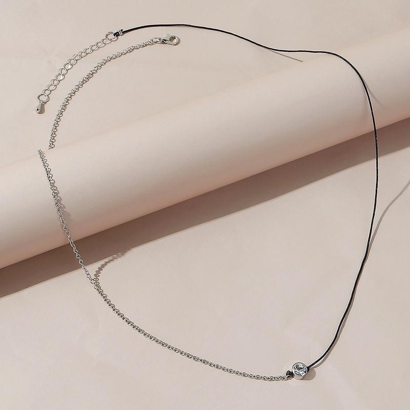 Simple rhinestone geometric alloy waist chain NHPS336674