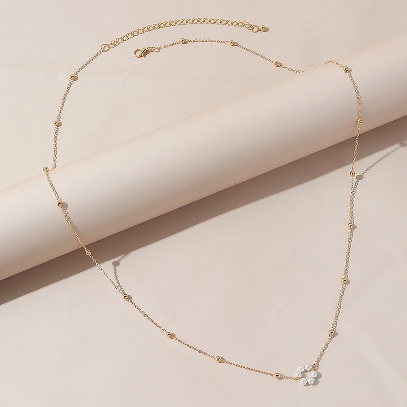 Korean pearl geometric alloy waist chain wholesale NHPS336677