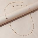 Korean simple retro fashion pearl star waist chain NHPS336678