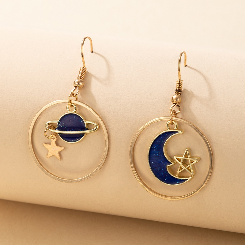 New creative geometric planet earrings NHGY336749