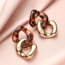 Resin geometric double earrings NHOT336744
