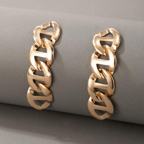 Pendientes largos de cadena de metal de moda NHGY336740's discount tags