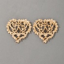 creative wild hollow carved love heart earrings NHGY336739