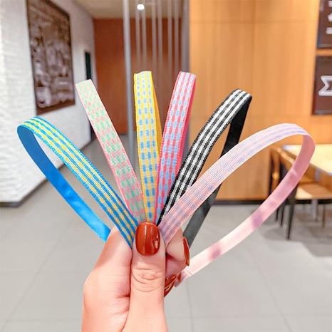 einfaches bonbonfarbenes kariertes Haarband NHNA336432's discount tags