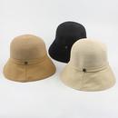 Fashion stitching sunshade sunscreen foldable straw fisherman hat NHXO336718