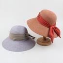 Korean letter mark bow sunscreen straw fisherman hat NHXO336727