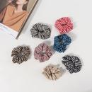 Houndstooth korean plaid hair scrunchies  NHAMD336804