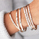 Fashion glossy titanium steel open bracelets wholesale NHTF336810