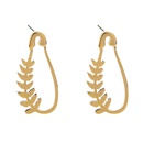 fashion leaf pin shape earrings  NHAN336818