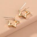 simple fivepointed star earrings wholesale NHAN336819