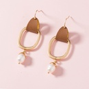 simple alloy leather earrings wholesale NHAN336825