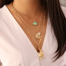 Fashion pearl coin multilayer necklace wholesale NHBW336833