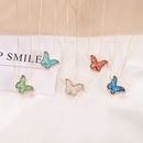Simple multicolor butterfly necklace wholesale NHBW336835