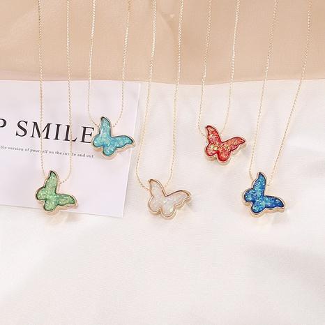 Collar de mariposa multicolor simple al por mayor NHBW336835's discount tags