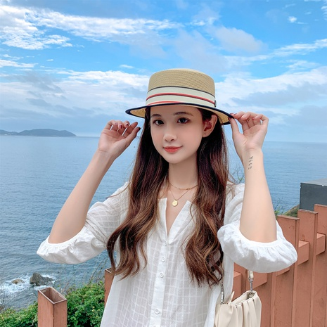 Fashion sunscreen sunshade straw hat NHCM336837's discount tags