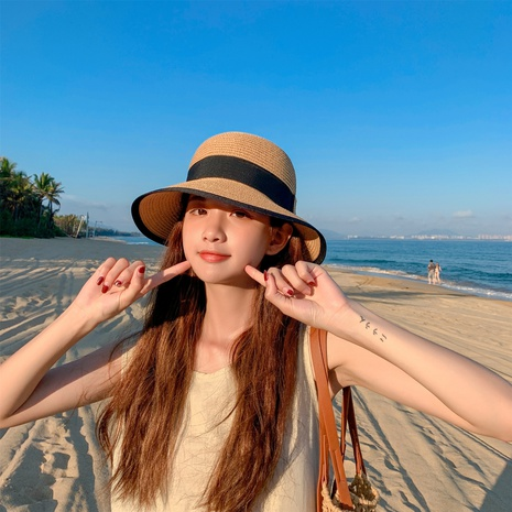 Fashion sunscreen sunshade straw hat wholesale NHCM336842's discount tags