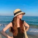 Fashion sunscreen sunshade straw hat wholesale NHCM336842