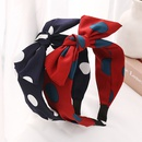 Korean polka dots fabric knotted headband NHWB336847